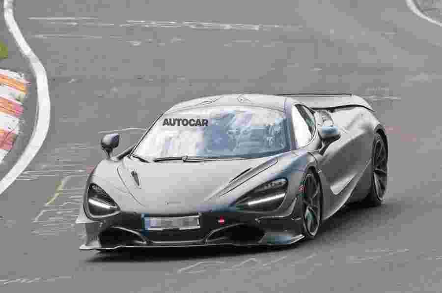 可能在纽巴林的迈凯轮750LT原型测试