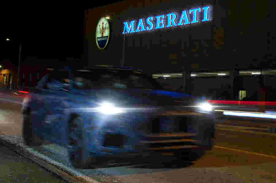 新的玛莎拉蒂古董SUV在新的预告片图像中显示