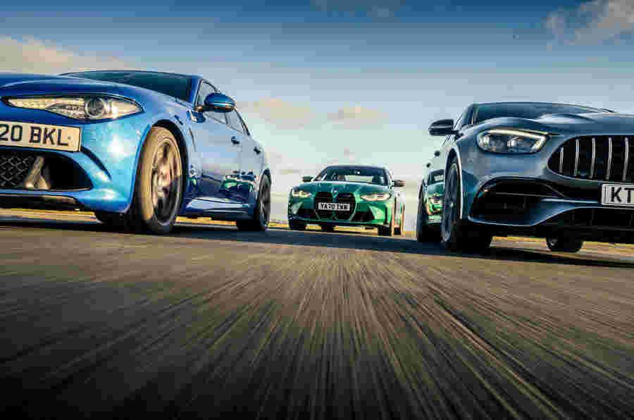 超级轿车枪战:BMW M3 VS AMG E63和Alfa Giulia QV